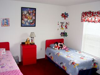 Red Disney Themed Bedroom