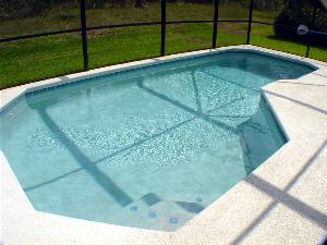 Screened Pool with safety fence